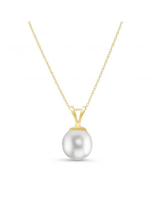 Collier or 375 perle