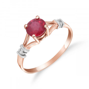 Bague Aspire or rose 375 rubis et diamant