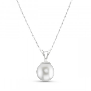 Collier or blanc 375 perle