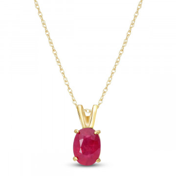 Collier ovale or 375 rubis