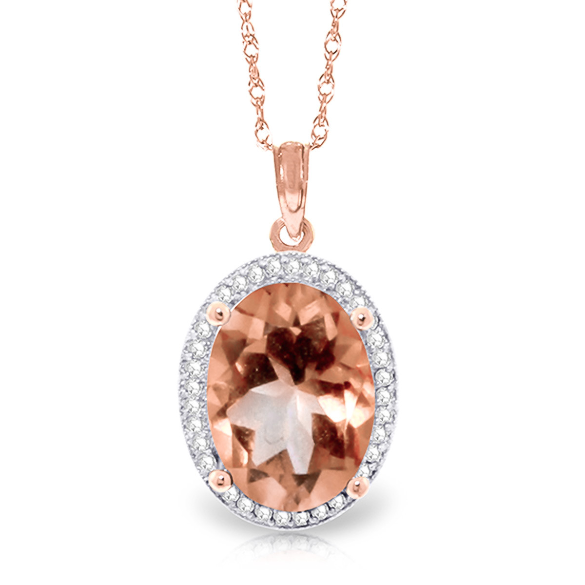 Collier halo or rose 375 citrine