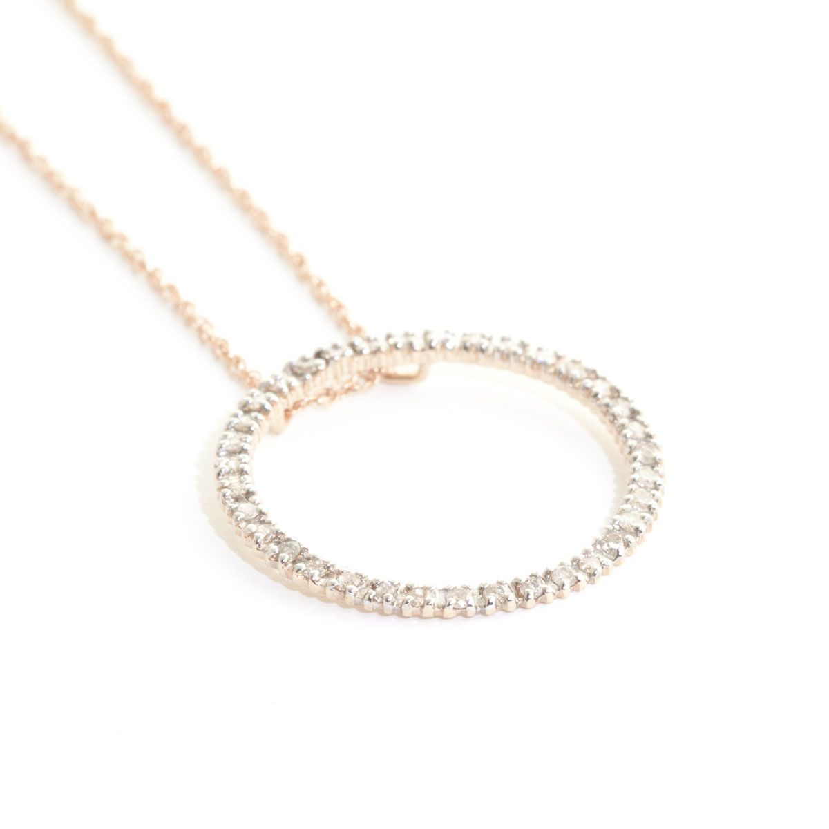 collier diamant rond
