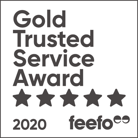 Feefo - Gold Trusted Service Award 2020